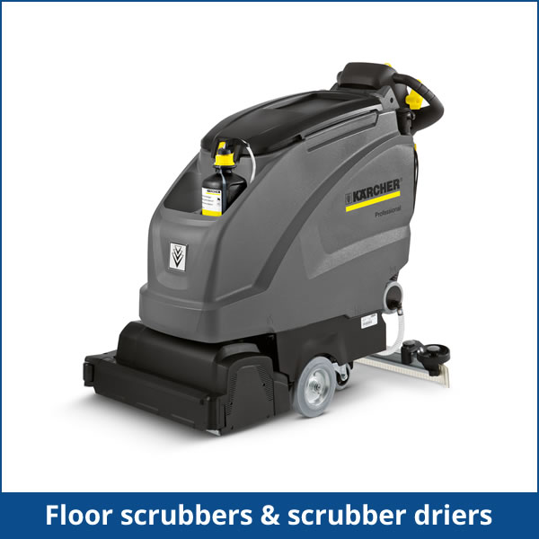 Floor scrubbers & scrubber driers